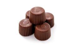 Partes de chocolate fotografia de stock