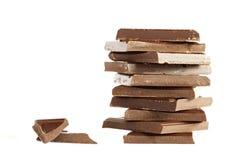 Partes de chocolate Fotografia de Stock Royalty Free