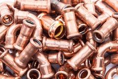Partes de cobre Imagen de archivo libre de regalías