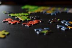 Partes de enigma Foto de Stock