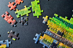 Partes de enigma Foto de Stock Royalty Free
