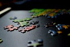 Partes de enigma Imagem de Stock