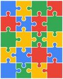 partes de enigma colorido Imagens de Stock