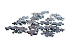 Partes de enigma, isoladas no fundo branco Imagem de Stock Royalty Free