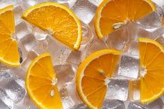 Partes de fruto alaranjado Imagens de Stock Royalty Free