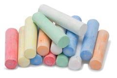 Partes de giz coloridas Foto de Stock Royalty Free