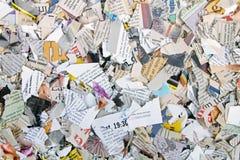 Partes de jornais e de compartimentos rasgados diferentes Fotografia de Stock Royalty Free