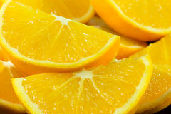 Partes de laranja Fotografia de Stock