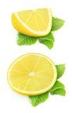 Partes de limão Fotografia de Stock Royalty Free