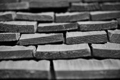 Partes de madeira empilhadas junto Fotos de Stock Royalty Free