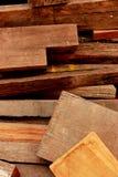 Partes de madeira velhas Foto de Stock
