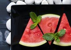 Partes de melancia fresca fotos de stock royalty free