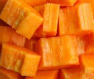 Partes de papaia Foto de Stock