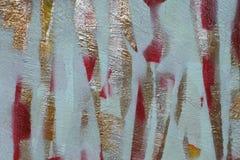Partes de papel colorido cortado a fita adesiva ? pintada em diversas camadas fundo da textura complexa da cor foto de stock