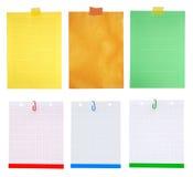 Partes de papel para cartas fotos de stock