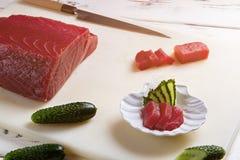 Partes de peixes e de pepino Imagem de Stock Royalty Free