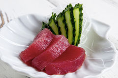 Partes de pepino e de peixes Fotografia de Stock Royalty Free