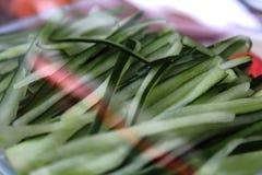 Partes de pepinos Imagem de Stock