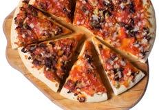 Partes de pizza de queijo fotos de stock royalty free