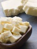 Partes de queijo de Paneer Fotos de Stock
