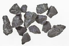 Partes de rocha do shungite do russo de Carélia Imagem de Stock Royalty Free