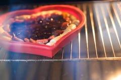 Partes de torta da morango do atolamento Imagem de Stock