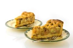 Partes de torta de maçã Imagem de Stock