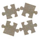 Partes de um enigma de serra de vaivém isoladas Imagem de Stock