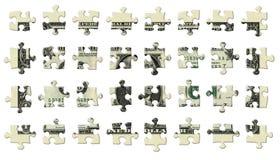 Partes de um enigma do dólar Fotografia de Stock
