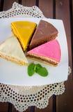 Partes de uma torta Fotos de Stock Royalty Free