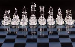 Placa de xadrez de vidro fotografia de stock royalty free