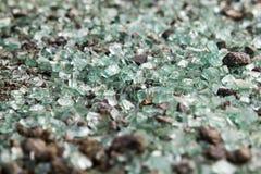 Partes de vidro quebradas Fotos de Stock