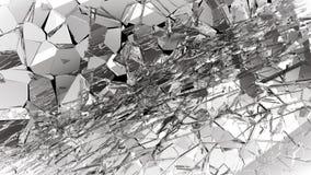 Partes de vidro quebrado ou quebrado no preto Fotografia de Stock Royalty Free