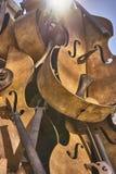 Partes de violinos Fotografia de Stock Royalty Free