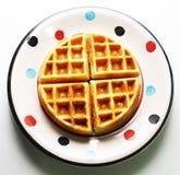 4 partes de waffles belgas Foto de Stock Royalty Free