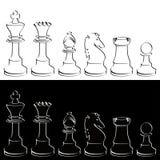 Partes de xadrez Fotografia de Stock Royalty Free