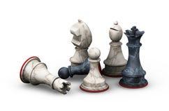 Partes de xadrez ilustração royalty free