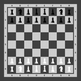 Partes de xadrez ajustadas ilustração stock