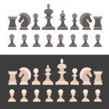 Partes de xadrez ajustadas Vetor ilustração stock