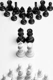 Partes de xadrez alinhadas estrategicamente Fotografia de Stock Royalty Free
