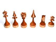 Partes de xadrez de madeira Foto de Stock