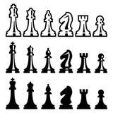 Partes de xadrez do vetor ilustração do vetor