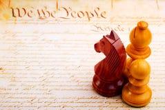 Xadrez e constituição Foto de Stock Royalty Free