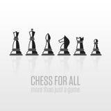 Partes de xadrez em um fundo cinzento ilustração do vetor
