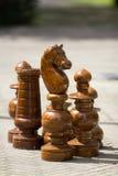 Partes de xadrez gigantes Imagens de Stock