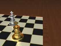 Partes de xadrez metálicas Foto de Stock