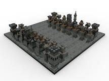Partes de xadrez metálicas Fotografia de Stock