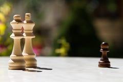 Partes de xadrez na tabela Imagem de Stock Royalty Free