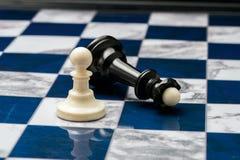 Partes de xadrez no campo aberto fotos de stock