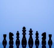 Partes de xadrez pretas Imagem de Stock